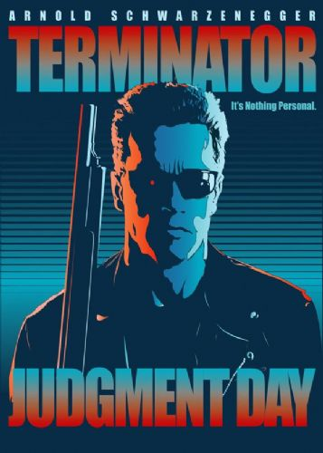 1990's Movie - TERMINATOR - JUDGEMENT DAY canvas print - self adhesive poster - photo print